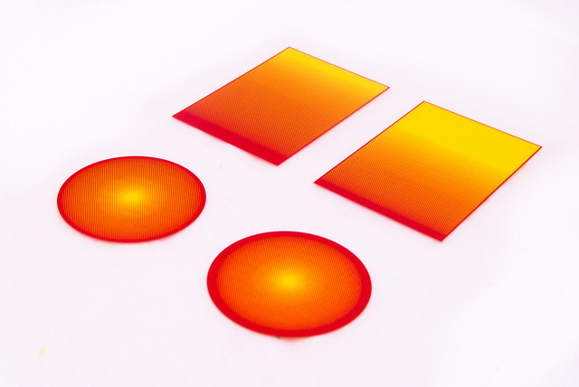 printed overlay gradient halftone