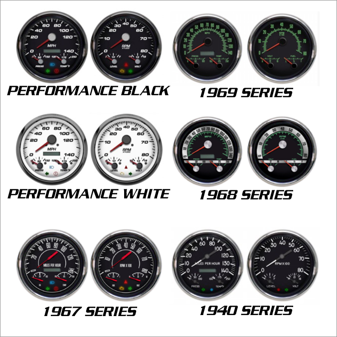 3-1 gauges nvu styles multifinction speedometer tachometer