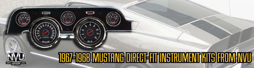 67 68 Mustang gauges aftermarket direct fit NVU
