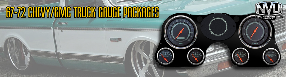 67-72 Chevy and GMC truck gauges and kits from NVU