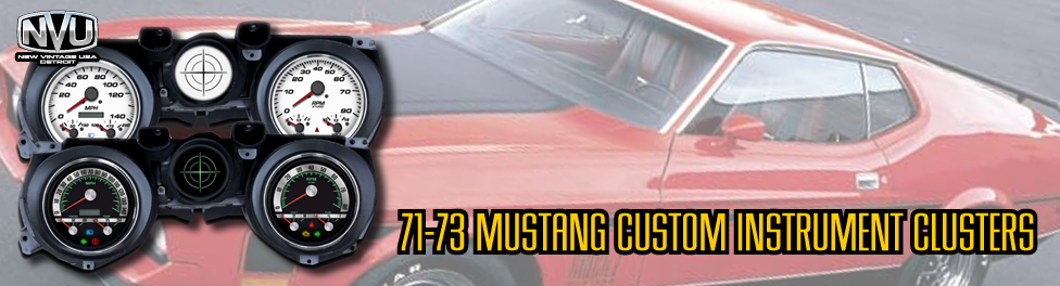 71 73 MUSTANG CUSTOM GAUGES