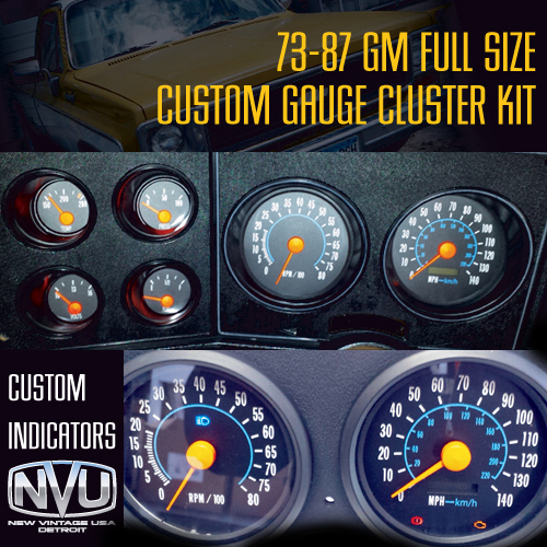custom oe style dash cluster gauges truck