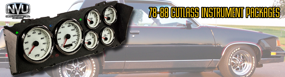 78-88 CUTALSS CUSTOM GAUGES AFTERMARKET DASH CLUSTER