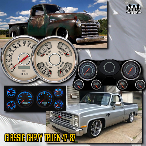 classic chevytruck gauges dash custom aftermarket