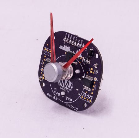 dual shaft stepper motor gauge design pressure speed tach rpm temperature