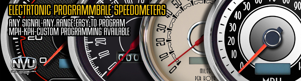 electronic speedometers from NVU programmable inputs