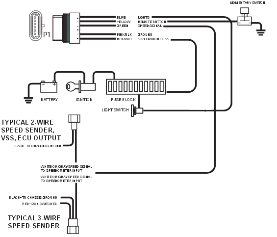 electronic speedometer wiring diagram posts new vintage usa inc electronic speedometer wiring