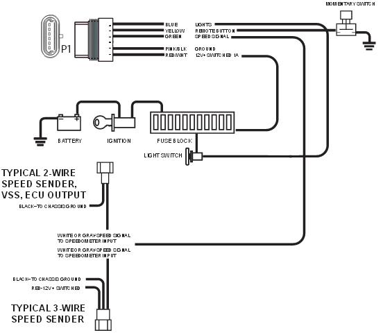 digital speedometer wiring diagram