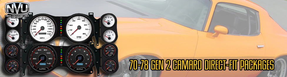 Gen 2 Camaro gauges with aftermarket NVU instruments