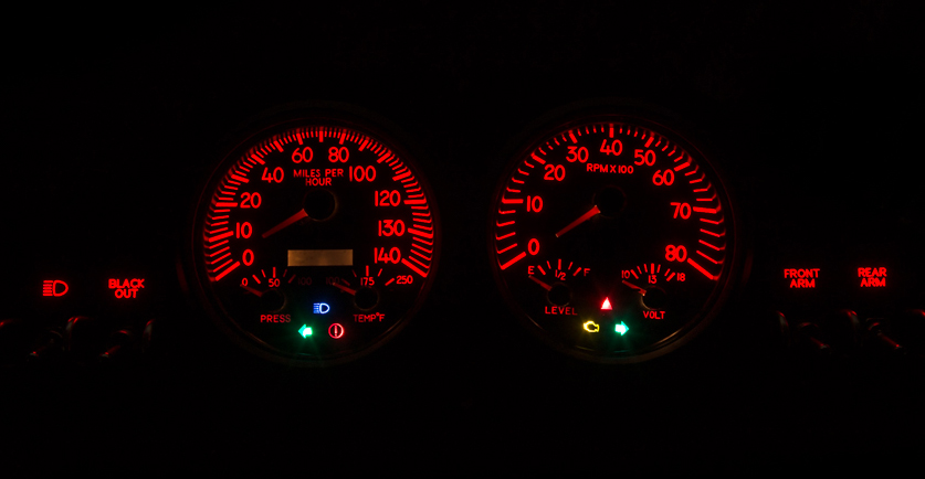 custom gauge panel cluster lighting