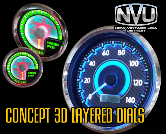 concept layered prototype gauges instruments