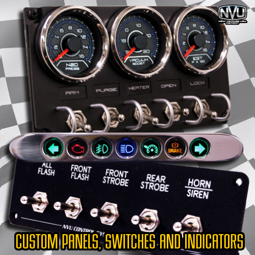 custm toggle switch panel with gauges led lights turbo nitrous