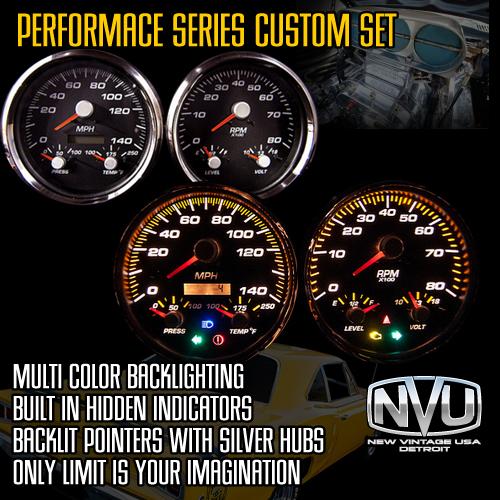custom gauges color graphics