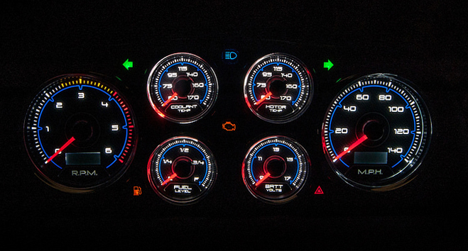 custom led lighting gauge panel cluster aftermarket instrumets