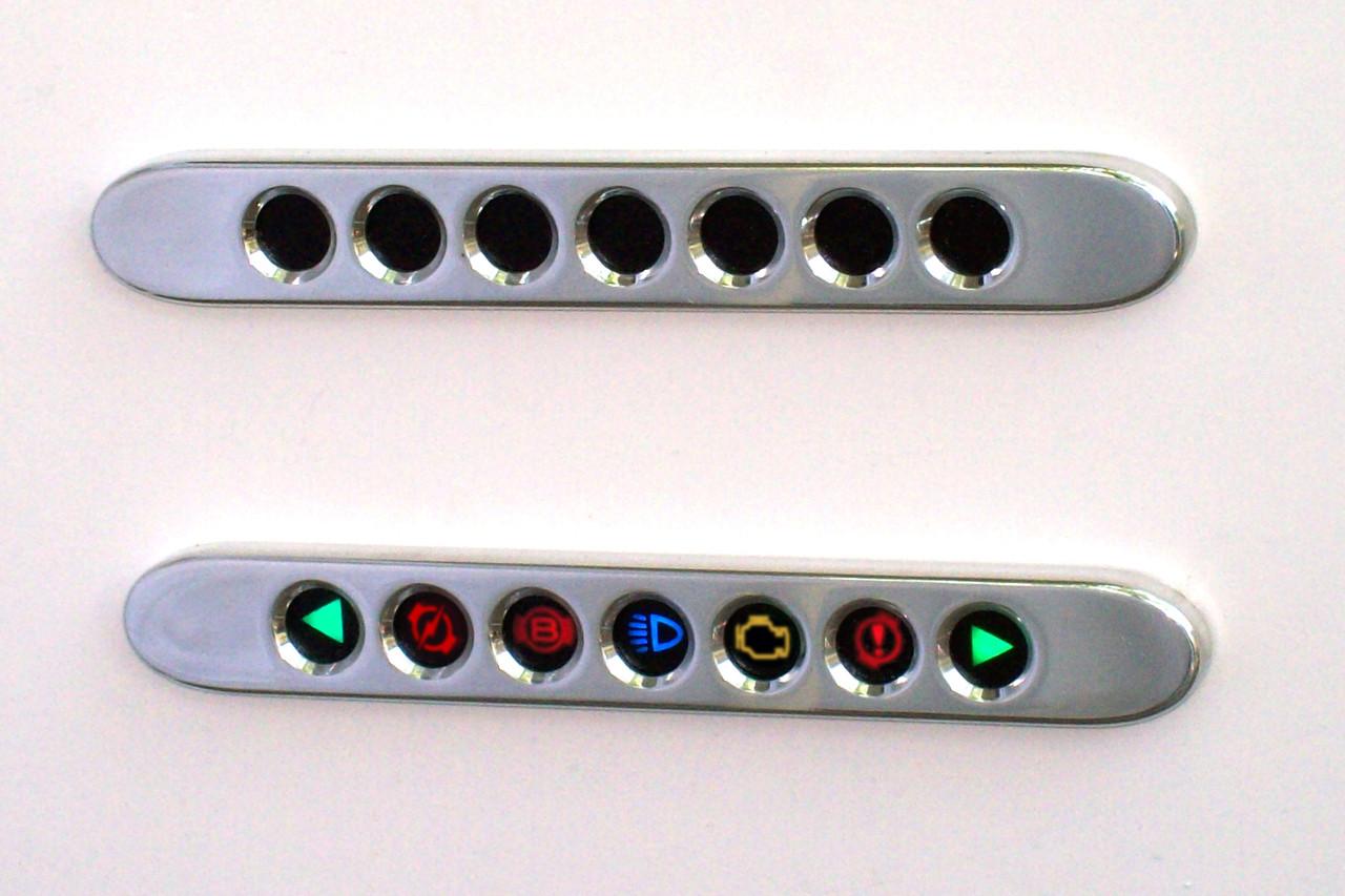 7 Lamp Panel Horz Icons Chk Eng Polished