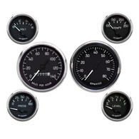 Military hot rod style gauges for your classic ride, Jeep, truck or off road vehicle.