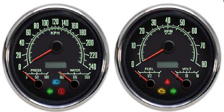 3-1 muscle car 69 series gauges 240 metric kph kmh speedometer