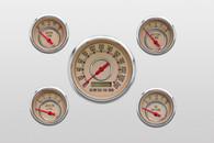 Metric vintage gauge kit 240 kph km/h kph