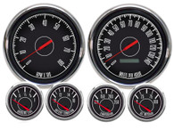 "1967 6 GA  4-3/8"" PROG SPEEDO BLACK 0-90 GM 240 kph"