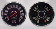 47-53 GM Truck WOODWARD 2 GA SPEEDO/QUAD BLACK CHEV/GMC TRUCK 240 KPH