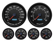 AVIATOR  6 GA KIT 4-3/8 SPEEDO AND TACH 240 kph