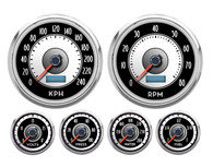 6 GA KIT 4-3/8 SPEEDO AND TACH 240 kph