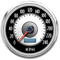 retro classic vintage design modern speedometer km/h