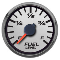 PERFORMANCEII SILVER FUEL LEVEL GAUGE PROGRAMMABLE