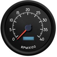 AVIATOR 4,000 RPM programmable Diesel Tachometer 4-3/8