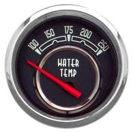 "WOODWARD SERIES WATER TEMP W/ SENDER 2-1/16"" BLACK"