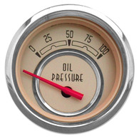 "WOODWARD SERIES OIL PRESS W/ SENDER 2-1/16"" BEIGE"