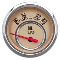 "WOODWARD OIL TEMP 2-1/16"" W/SENDER BEIGE"