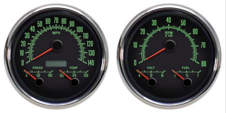 Day view of the 69 series 3-1 gauges.