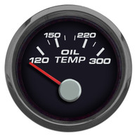 "PERFORMANCE OIL TEMP 2-1/16"" W/SENDER BLACK"