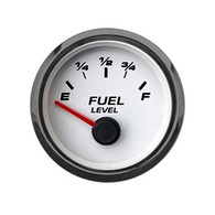 "2-1/16"" FUEL LEVEL GAUGE 90-0 WHT"