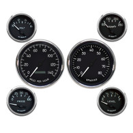 6 GAUGE KIT PROGRAMMABLE SPEEDO BLACK