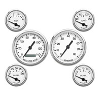 6 GAUGE KIT PROGRAMMABLE SPEEDO WHITE