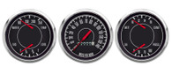 1967 3 GA 3-3/8 MECH SPEEDO, DUAL GAUGES BLACK FORD/CHRY
