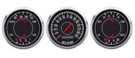 1967 3 GA 3-3/8 PROG SPEEDO, DUAL GAUGES BLACK FORD/CHRY