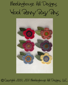 Wool Penny Posy Pin - Pattern