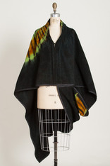 CAPES: SLINKY CURVE GREEN-BLACK