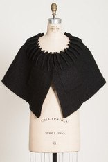 CAPES: Darted Collar Cape Black