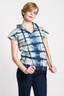 Tiger Shibori Hoodie: Short Sleeve