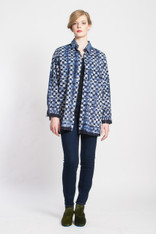 BOYFRIEND SHIRT #3: White+Indigo Check