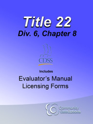 Title 22 CD for RCFE