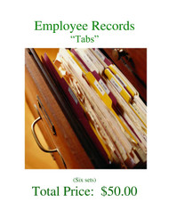 Records System - Employee Tabs