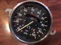KM/MPH SPEEDOMETER WITH CHROME BEZEL AND GLASS