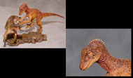 Utahraptor vs. Iguanodon Resin Kit by Foulkes
