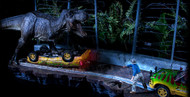 Jurassic Park T-Rex Jeep Attack Diorama by Iron Studios
