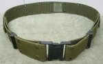 USGI USMC Large Pistol Web Belt BLACK QUICK RELEASE Buckle NICE